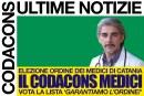 Per l'elezione del consiglio dell'ordine dei medici chirurghi e odontoiatri di Catania, che si terrà nei giorni 20-21-22 settembre, il CODACONS vota la lista 'GarantiAMO l'ordine!'