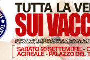 """VACCINI: """"Tutta la verità sui vaccini"""". Sabato 20 Settembre ore 18.00, sala conferenze Palazzo del Turismo, in via Ruggero VII n.5 (ACIREALE)"""