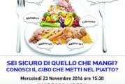 """23/11/2016 – Seminario di presentazione del progetto """"Tutti a Tavola! Oggi Chimica!"""""""