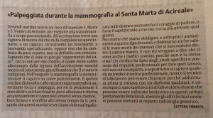 Violenza donna mammografia